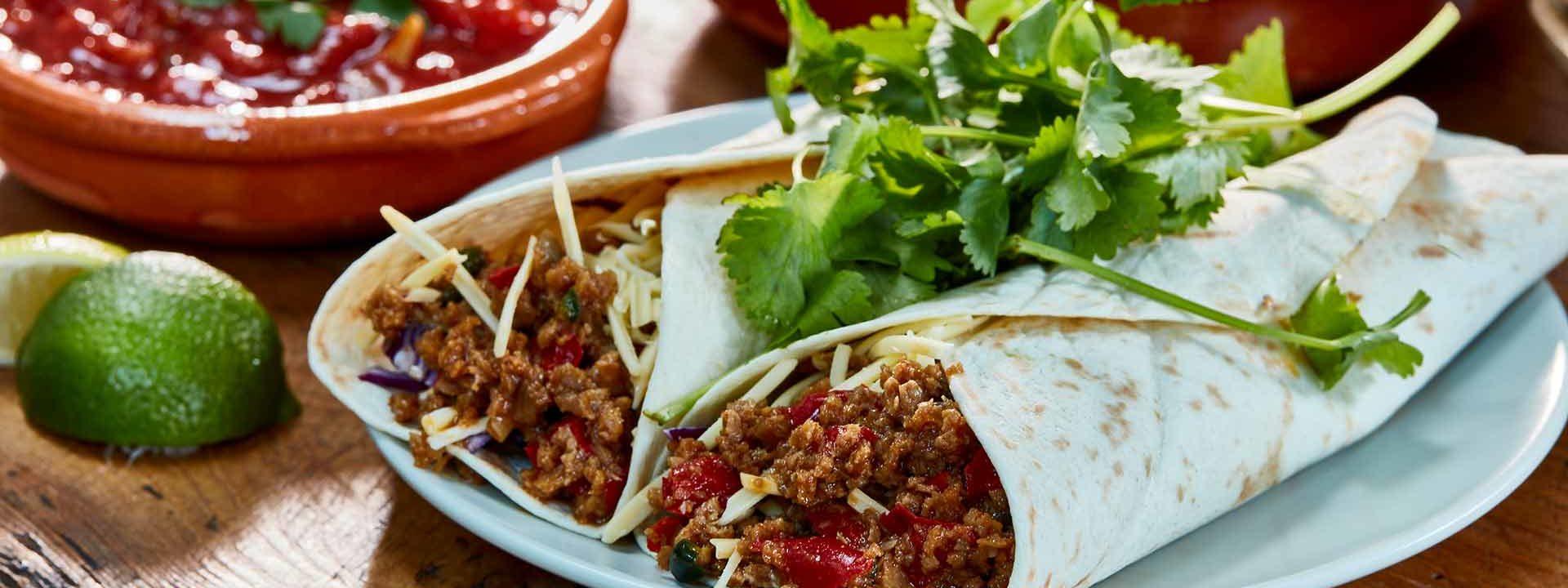 Simpleas vegan taco wraps